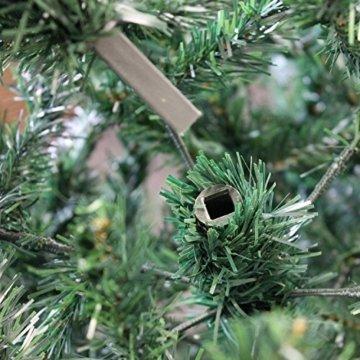 Wohaga® Künstlicher Weihnachtsbaum Tannenbaum inklusive Christbaumständer 180cm / 600 Spitzen Weihnachtsdekoration künstliche Tanne - 2