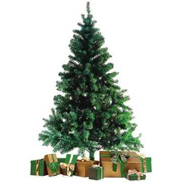 Wohaga® Künstlicher Weihnachtsbaum Tannenbaum inklusive Christbaumständer 180cm / 600 Spitzen Weihnachtsdekoration künstliche Tanne - 1