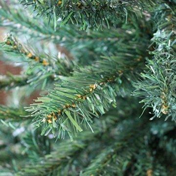 Wohaga® Künstlicher Weihnachtsbaum Tannenbaum inklusive Christbaumständer 180cm / 600 Spitzen Weihnachtsdekoration künstliche Tanne - 5