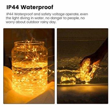 WOWDSGN Lichtervorhang 3m x 3m 300LEDs USB Lichterkette Vorhang mit 8 Leuchtmodi Wasserdicht Warmweiß Ideal für Weihnachten Geburtstage Party Hochzeiten Fenster etc. - 6
