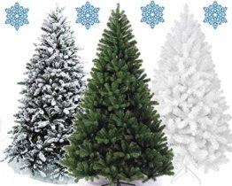 XONIC Künstlicher Weihnachtsbaum Tannenbaum 30,60,90,120, 150, 180,210 240cm Christbaum Baum GRÜN Weiss Schnee (210, GRÜN) - 1