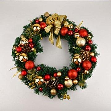 YILEEY Weihnachtskugeln Weihnachtsdeko Set Gold und Rot 108 STK in 15 Farben, Kunststoff Weihnachtsbaumkugeln Box mit Aufhänger Christbaumkugeln Plastik Bruchsicher, Weihnachtsbaumschmuck, MEHRWEG - 5