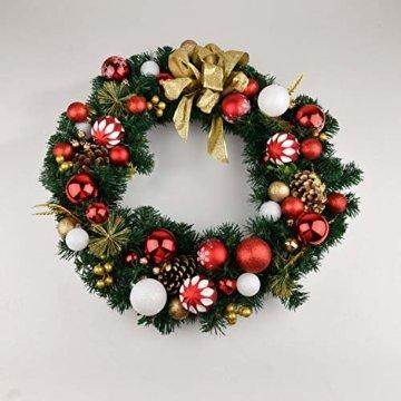 YILEEY Weihnachtskugeln Weihnachtsdeko Set Rot und weiß 68 STK in 10 Farben, Kunststoff Weihnachtsbaumkugeln Box mit Aufhänger Christbaumkugeln Plastik Bruchsicher, Weihnachtsbaumschmuck, MEHRWEG - 6