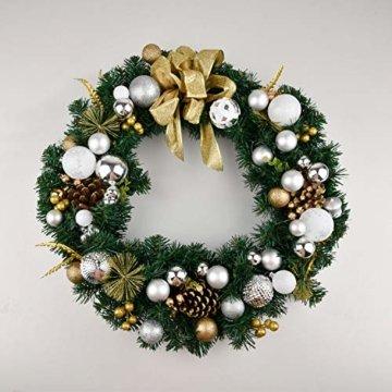 YILEEY Weihnachtskugeln Weihnachtsdeko Set Silber und Weiß 68 STK in 21 Farben, Kunststoff Weihnachtsbaumkugeln Box mit Aufhänger Christbaumkugeln Plastik Bruchsicher, Weihnachtsbaumschmuck, MEHRWEG - 6