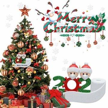 yummyfood Weihnachtsbaum Anhänger 2020 Überlebte Familie Christbaumschmuck DIY Resin Baumschmuck Zur Weihnachtsdekoration - 2