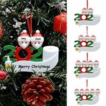 yummyfood Weihnachtsbaum Anhänger 2020 Überlebte Familie Christbaumschmuck DIY Resin Baumschmuck Zur Weihnachtsdekoration - 3