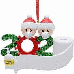 yummyfood Weihnachtsbaum Anhänger 2020 Überlebte Familie Christbaumschmuck DIY Resin Baumschmuck Zur Weihnachtsdekoration - 1