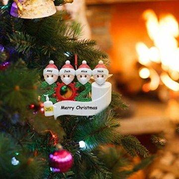 yummyfood Weihnachtsbaum Anhänger 2020 Überlebte Familie Christbaumschmuck DIY Resin Baumschmuck Zur Weihnachtsdekoration - 5