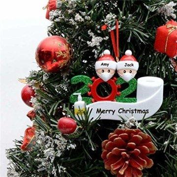 yummyfood Weihnachtsbaum Anhänger 2020 Überlebte Familie Christbaumschmuck DIY Resin Baumschmuck Zur Weihnachtsdekoration - 6
