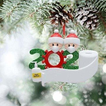 yummyfood Weihnachtsbaum Anhänger 2020 Überlebte Familie Christbaumschmuck DIY Resin Baumschmuck Zur Weihnachtsdekoration - 7