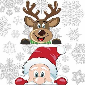 Yuson Girl Schneeflocken Fensterbild Abnehmbare Weihnachten Aufkleber Fenster Weihnachten Deko Weihnachtsmann Elk Wandtattoo Weihnachten Statisch Haftende PVC Aufkleber - 5