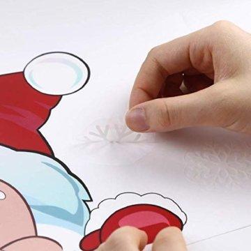 Yuson Girl Schneeflocken Fensterbild Abnehmbare Weihnachten Aufkleber Fenster Weihnachten Deko Weihnachtsmann Elk Wandtattoo Weihnachten Statisch Haftende PVC Aufkleber - 6