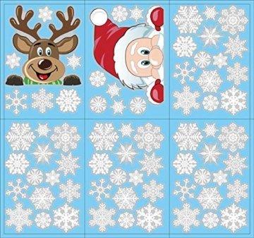 Yuson Girl Schneeflocken Fensterbild Abnehmbare Weihnachten Aufkleber Fenster Weihnachten Deko Weihnachtsmann Elk Wandtattoo Weihnachten Statisch Haftende PVC Aufkleber - 7