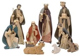 zeitzone Riesige Krippenfiguren Weihnachten Handbemalt 10 Stück - 1