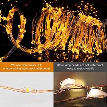 Zorara LED Lichterbündel, 2M 200 LED Lichtervorhang, 8 modi lichterbündel außen mit Fernbedienung, Weihnachtsbaum Lichterkette Partydekoration für Garten, Party, Weihnachten, Hochzeit - 6