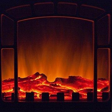 Deuba Elektro Kamin Elektrischer mit Heizung LED Kaminfeuer Effekt 2000W schwarz Flammeneffekt Heizer Ofen schwarz - 4