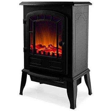 Deuba Elektro Kamin Elektrischer mit Heizung LED Kaminfeuer Effekt 2000W schwarz Flammeneffekt Heizer Ofen schwarz - 5