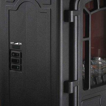 Deuba Elektro Kamin Elektrischer mit Heizung LED Kaminfeuer Effekt 2000W schwarz Flammeneffekt Heizer Ofen schwarz - 7