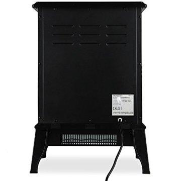 Deuba Elektro Kamin Elektrischer mit Heizung LED Kaminfeuer Effekt 2000W schwarz Flammeneffekt Heizer Ofen schwarz - 8