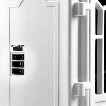 Deuba Elektro Kamin Elektrischer mit Heizung LED Kaminfeuer Effekt 2000W weiß Flammeneffekt Heizer Ofen weiß - 2