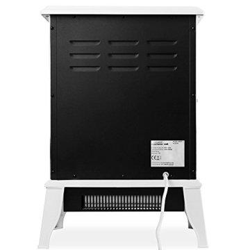 Deuba Elektro Kamin Elektrischer mit Heizung LED Kaminfeuer Effekt 2000W weiß Flammeneffekt Heizer Ofen weiß - 8
