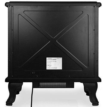 Deuba Elektrokamin Elektrischer Kamin mit Heizung Doppeltür LED Kaminfeuer Effekt Fernbedienung 2000 W E - Kamin schwarz - 8