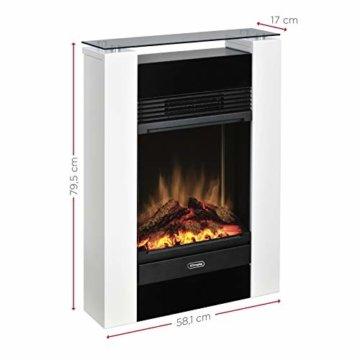 Dimplex Gisella white elektrisches Kaminfeuer mit Fernbedienung, Weiß, 2 Heizstufen, Patentierter Optiflame Flammeneffekt - 12