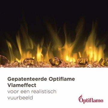 Dimplex Gisella white elektrisches Kaminfeuer mit Fernbedienung, Weiß, 2 Heizstufen, Patentierter Optiflame Flammeneffekt - 13