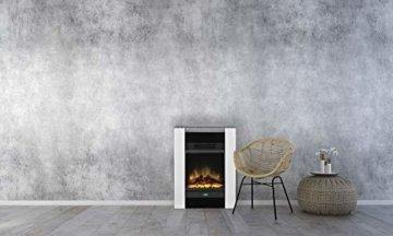 Dimplex Gisella white elektrisches Kaminfeuer mit Fernbedienung, Weiß, 2 Heizstufen, Patentierter Optiflame Flammeneffekt - 3
