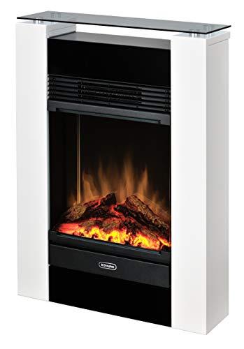 Dimplex Gisella white elektrisches Kaminfeuer mit Fernbedienung, Weiß, 2 Heizstufen, Patentierter Optiflame Flammeneffekt - 7