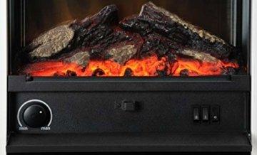 Dimplex Gisella white elektrisches Kaminfeuer mit Fernbedienung, Weiß, 2 Heizstufen, Patentierter Optiflame Flammeneffekt - 9