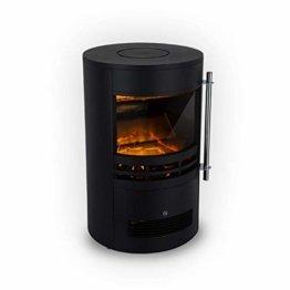 Klarstein Brixen Elektrischer Kamin mit Flammeneffekt - Elektrokamin, E-Kamin, 900/1800 Watt, stufenloses Thermostat, LED Backlight, Überhitzungsschutz, 3D-Flame-Effekt, InstaFire, schwarz - 1