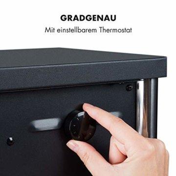 Klarstein Copenhagen - Elektrischer Kamin, Elektrokamin, 2 Heizstufen: 950 oder 1900 Watt, Flammenillusion auch ohne Heizen, Glasfront, Thermostat, Überhitzungsschutz, schwarz - 5