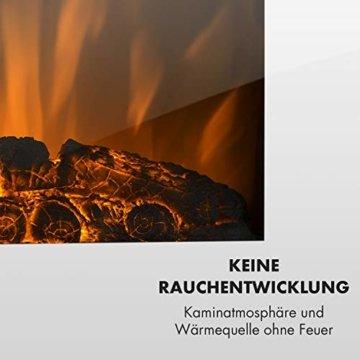 Klarstein Lausanne Elektro-Wandkamin (1000 oder 2000 W Leistung, elektrischer Heizlüfter, Flammenillusion, Flammen-Effekt, Dimmerfunktion, platzsparende Wandinstallation) Vertical, weiß - 5