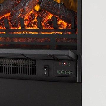 Klarstein Studio 5 - Elektrokamin mit Flammeneffekt, Elektrischer Kamin, E-Kamin, 900/1800 W einstellbar, Heizlüfter, Wochentimer, 5 Helligkeitsstufen, 2 Wärmestufen, Fernbedienung, weiß - 5