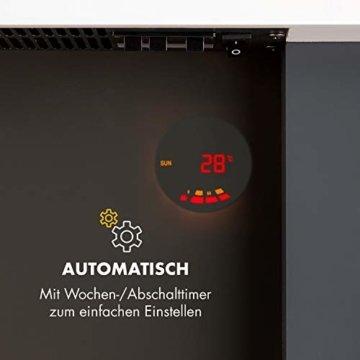 Klarstein Studio Light & Fire 2 Kamin - Elektrokamin, elektrischer Kamin mit Flammeneffekt, E-Kamin, 1000/2000 Watt, Timer-Funktion, Thermostat, MDF-Gehäuse, inkl. Fernbedienung, weiß - 3