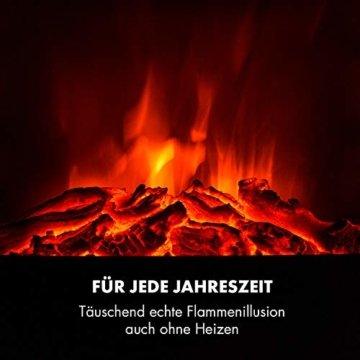 Klarstein Vienna, Elektrischer Eckkamin, Elektrokamin mit Flammeneffekt, E-Kamin, zuschaltbare Heizfunktion, 950 oder 1900 Watt, programmierbarer Wochentimer, inkl. Fernbedienung, matt-schwarz - 5