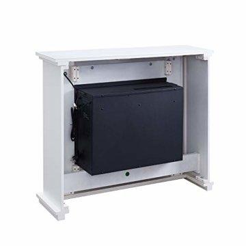 RICHEN Elektrokamin Baldur - Elektrischer Standkamin Mit Heizung, LED-Beleuchtung, 3D-Flammeneffekt & Fernbedienung - Weiß - 7