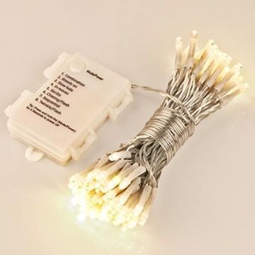 100er LED Outdoor Lichterkette Batterienbetrieben mit Timer Warmweiß deal für CHRISTMAS, Festlich, Hochzeiten, Geburtstag, PARTY, NEW YEAR Dekoration, HÄUSER ETC (8 Modi, Außenbeleuchtung) - 2