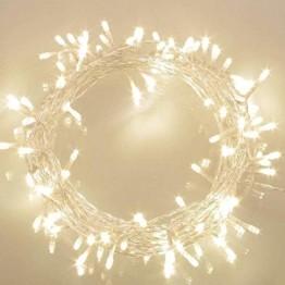 100er LED Outdoor Lichterkette Batterienbetrieben mit Timer Warmweiß deal für CHRISTMAS, Festlich, Hochzeiten, Geburtstag, PARTY, NEW YEAR Dekoration, HÄUSER ETC (8 Modi, Außenbeleuchtung) - 1