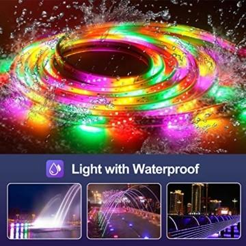 10M Bluetooth LED Streifen Musical 5050 RGB, LED Strip 300 LED Lichtband, Musikalische Funktion, Persönlicher Zeitplan, APP-Steuerung und Fernbedienung, Farbwechsel LED Band Wasserdicht - 7