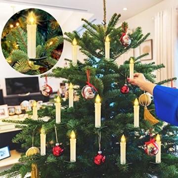 20/30/40 er LED Weihnachtskerzen mit Fernbedienung Timer Dimmbar, Christbaumkerzen Kabellose Weihnachtsbaumkerzen für Weihnachtsbaum Weihnachtsdeko Hochzeit (30stück) - 4