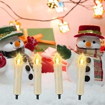 20/30/40 er LED Weihnachtskerzen mit Fernbedienung Timer Dimmbar, Christbaumkerzen Kabellose Weihnachtsbaumkerzen für Weihnachtsbaum Weihnachtsdeko Hochzeit (30stück) - 6