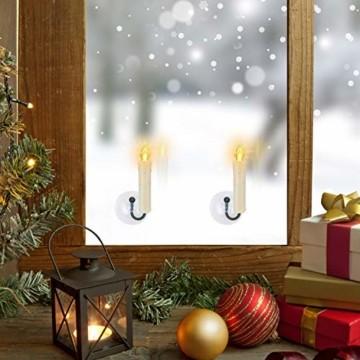 20/30/40 er LED Weihnachtskerzen mit Fernbedienung Timer Dimmbar, Christbaumkerzen Kabellose Weihnachtsbaumkerzen für Weihnachtsbaum Weihnachtsdeko Hochzeit (30stück) - 7
