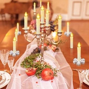 20/30/40 er LED Weihnachtskerzen mit Fernbedienung Timer Dimmbar, Christbaumkerzen Kabellose Weihnachtsbaumkerzen für Weihnachtsbaum Weihnachtsdeko Hochzeit (30stück) - 9