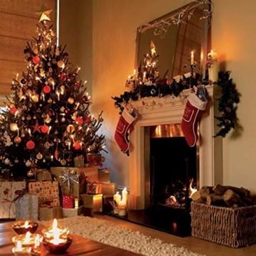 20/30/40er LED Lichterkette Kabellos Weihnachtskerzen Christbaumschmuck Weihnachtsbaumbeleuchtung 20*milchweisse Hülle - 4