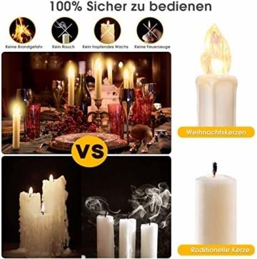 20/30/40er LED Lichterkette Kabellos Weihnachtskerzen Christbaumschmuck Weihnachtsbaumbeleuchtung 20*milchweisse Hülle - 7