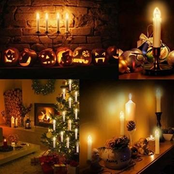 20/30/40er LED Lichterkette Kabellos Weihnachtskerzen Christbaumschmuck Weihnachtsbaumbeleuchtung 20*milchweisse Hülle - 9