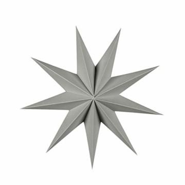 5er Set Faltsterne Papier Stern 9 Zacken Faltsterne Weihnachtsstern für Weihnachtsbaum Dekor Ornament Set - 3