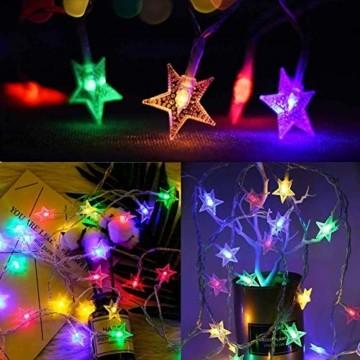 6 Meter 40LED Lichter,Weihnachtsfeier Dekoration Lichter,Weihnachtsbeleuchtung, Fensterlicht Saugnapf ,Fensterlichter,lichtervorhang fenster ,Lichterkette,Lichtervorhang Lichter Weihnachtsbeleuchtung - 3